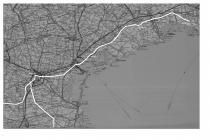 cartina stradale attuale con l'indicazione dell'antica via Annia