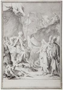 Piazzetta, Sofronia si offre ostaggio ad Aladino, acquaforte e bulino