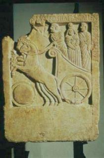 stele funeraria di Ostiala Gallenia