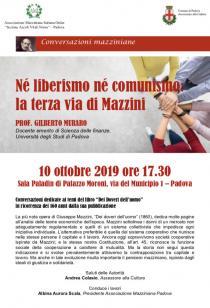 Locandina Conversazioni Mazziniane del 10-10-2019
