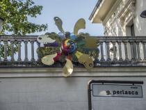 Collettiva Artisti al Muro 2014-IIIa edizione-Opera di Sergio Marchioro-Foto Bardelli