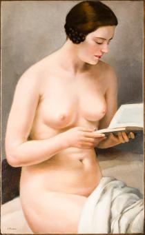 Francesco Trombadori Fanciulla nuda che legge