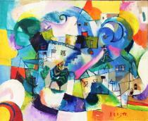 Mjlienko Bengez  - Olio su tela - Primavera