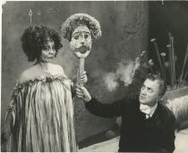 Federico Fellini sul set di Satyricon 1969