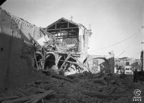 La chiesa di San Benedetto bombardata