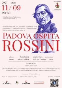 locandina di Padova ospita Rossini