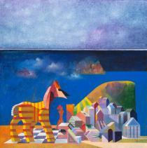 Bruno Gorlato - I costruttori di idee, olio su tela, 2014