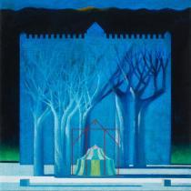 Bruno Gorlato - I custodi del sole, olio su tela, 2004