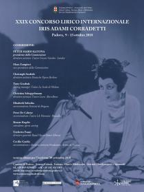 """Concorso Lirico Internazionale """"Iris Adami Corradetti"""" 2018. Concerto pubblico dei finalisti"""