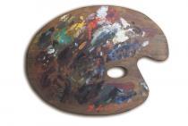 Tavolozze d'autore. L'alchimia del colore da Giorgio de Chirico ai contemporanei. Caccia al tesoro tra i capolavori della mostra-Tavolozza di De Chirico