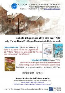 Locandina evento 20-01-2018 Museo Nazionale Internamento