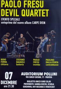 Paolo Fresu Devil Quartet in Concerto. Serata di chiusura di Novembre Patavino