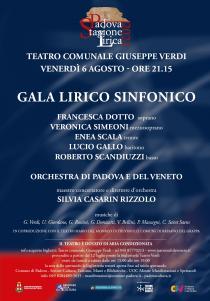 Gala lirico sinfonico. Stagione Lirica 2021