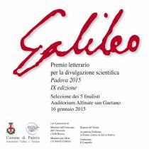 Premio Letterario Galileo 2015-Selezione finalisti