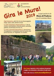Gira le Mura! Giro a tappe delle mura padovane 2019-Programma di gennaio-febbraio-marzo