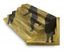 Reveane Piergiuliano - Spilla, oro, niello, 1,5 x 6 x 4,6 cm, 2015
