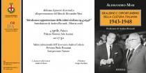 Invito presentazione libro di Alessandro Masi _ Idealismo e opportunismo della cultura italiana