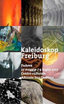 Kaleidoskop Freiburg. 50° anniversario gemellaggio Padova-Friburgo. Pieghevole invito