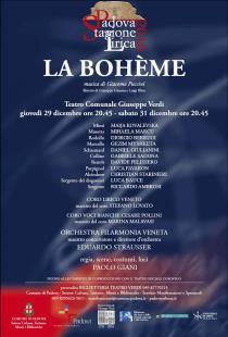La Bohème di Giacomo Puccini. Stagione Lirica 2016