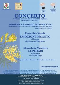 Locandina concerto  raccolta fondi a favore della casa di fuga per le donne vittime di violenza2019
