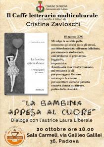 Locandina presentazione libro La bambina appesa al cuore