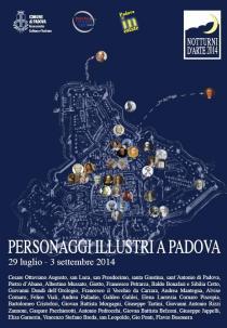 Notturni d'arte 2014-Personaggi illustri a Padova-immagine rassegna
