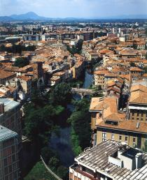 una veduta di Padova dall'alto
