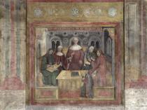 Notturni d'arte 2014-Pietro d'Abano in tribunale-parete ovest-Palazzo della Ragione