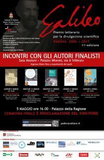 Incontri con gli autori finalisti del Premio letterario Galileo 2017. Programma incontri
