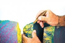 FRANCESCO RAMPIN. La pelle del porfido-Grande trittico A 2012