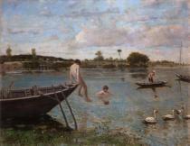 Serafino de Tivoli, L'antica pescaia a Bougival