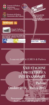 AGIMUS - XXII Stagione Concertistica Internazionale 2014-2015