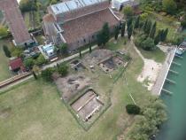 Torcello, indagini archeologiche riprese da drone (Università Ca' Foscari – Venezia)