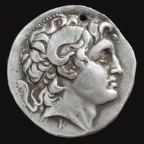 7. Regno Traco-macedone, Lisimaco (305-281 a.C.), Tetradracma, zecca di Pergamo (Museo Bottacin di Padova)