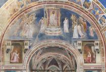 La parete con la scena dell'Annunciazione