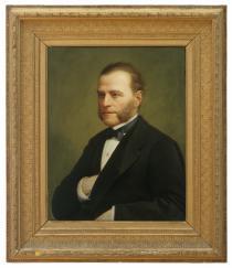 Augusto Caratti, Ritratto di Nicola Bottacin, 1876