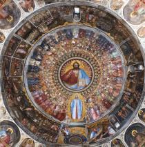 La volta affrescata del Battistero del Duomo