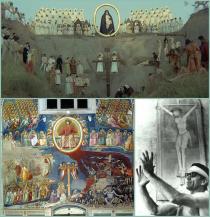 raffronto tra scene del film e Il Giudizio Universale di Giotto