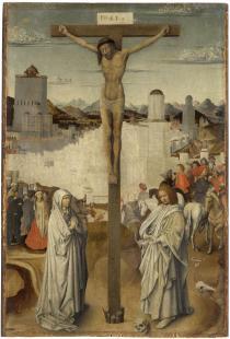 Pittore italiano, sec. XV (da Jan van Eyck) Crocifissione