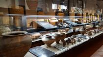 vetrine della Sala preromana
