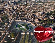 veduta di Padova con cuore