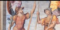 particolare degli affreschi della Sala dei Giganti