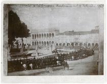 Prato della Valle truppe austriache in rassegna