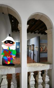 Sala dipinti con Arlecchino