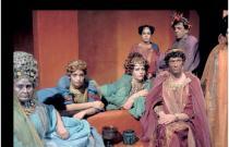 scena del film Satyricon di Federico Fellini