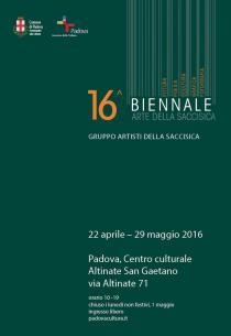 BIENNALE D'ARTE DELLA SACCISICA 2016
