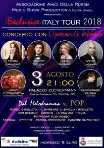 Exclusive Italy Tour 2018. Concerto con l'Opera di Mosca