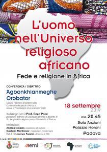 Locandina Conferenza dibattito Luomo nellUniverso religioso africano Fede e religione in Africa