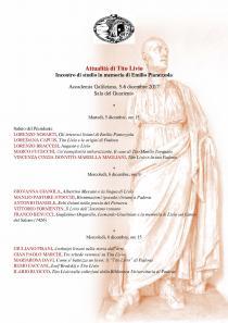 Attualità di Tito Livio. Incontro di studio in memoria di Emilio Pianezzola