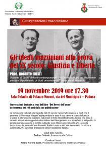 Locandina Conversazioni mazziniane 2019-11-19